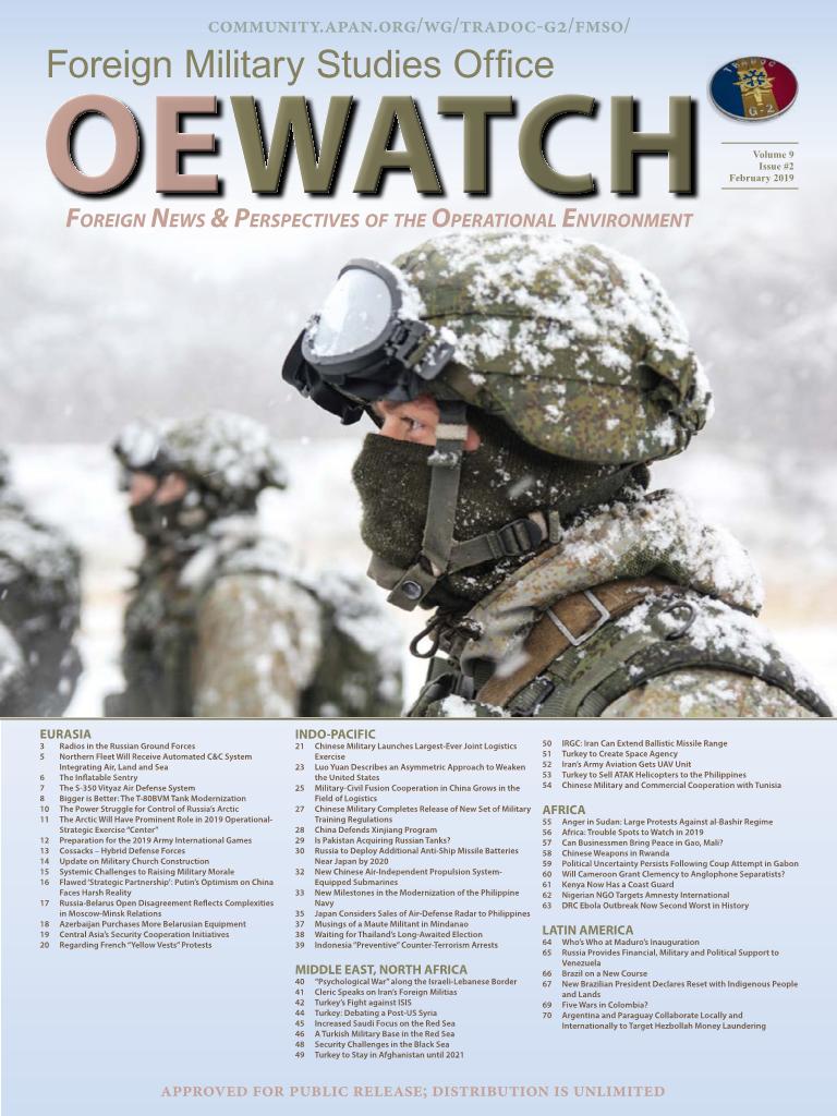 OE Watch, Vol 09, Issue 02, Feb 2019 - FMSO OE Watch Issues