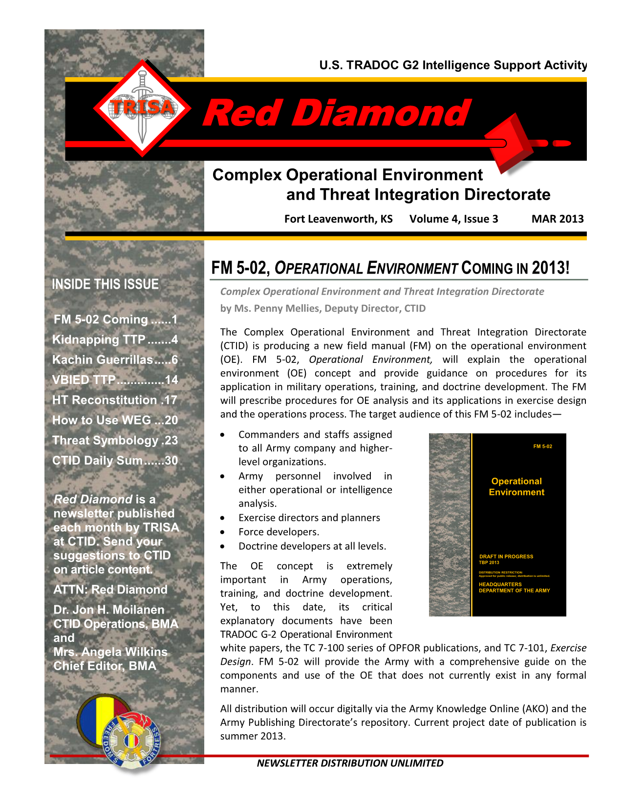 OEE Red Diamond MAR13 - Documents - ACE Threats Integration