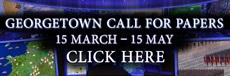 Georgetown Call For Papers. March 15 to May 15.